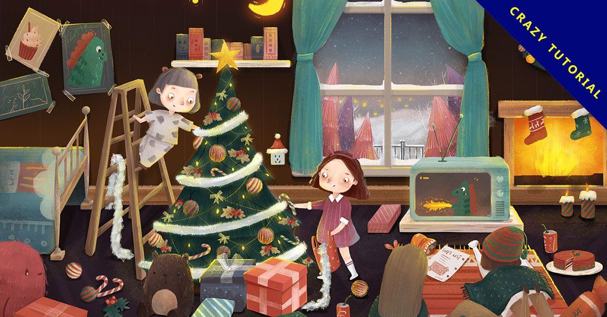 聖誕節圖畫欣賞,15張有設計感的聖誕節圖畫作品推薦
