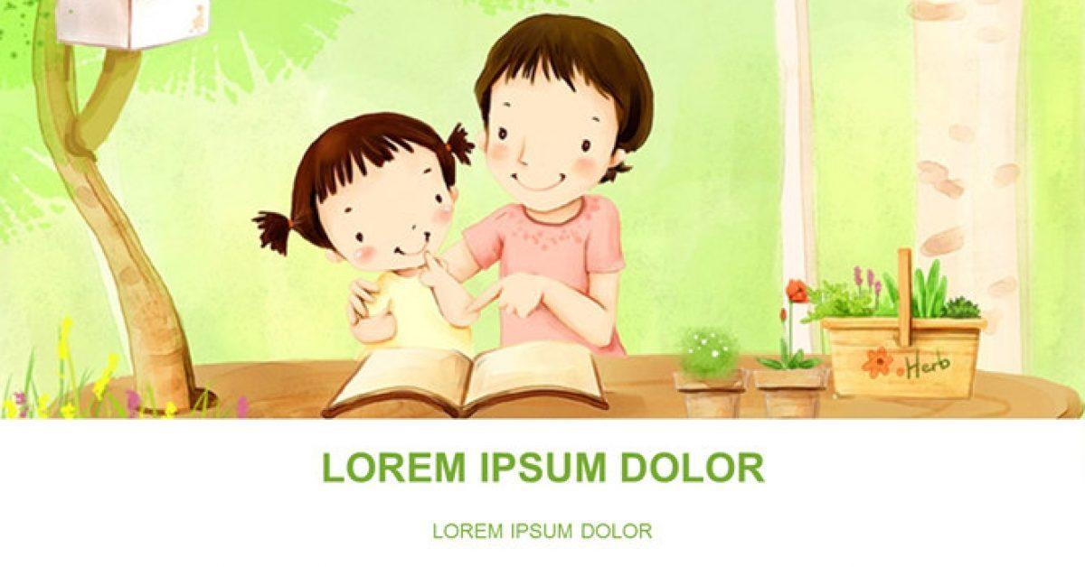 親子閱讀PPT模板下載,32頁優質的溫馨親子簡報免費套用