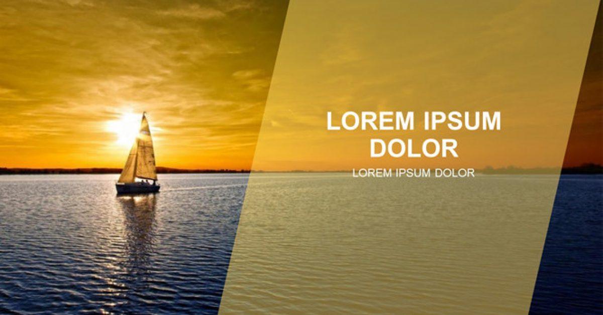 帆船背景PPT模板下載,34頁高質量的自然風景PPT免費套用
