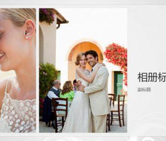 婚紗照PPT模板下載,25頁精品的婚禮愛情PPT免費套用