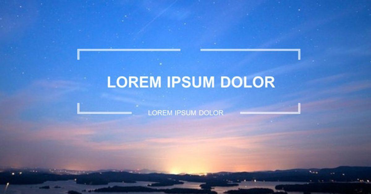 夕陽風景PPT模板下載,27頁高質量的自然風景PPT模板樣式