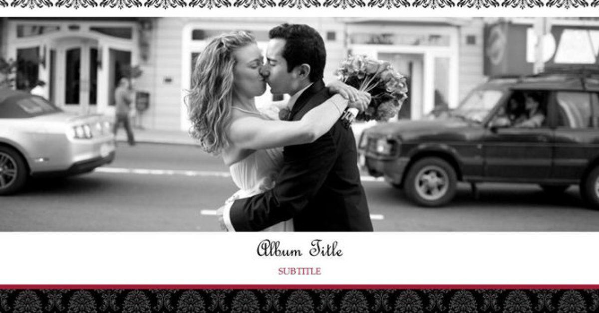 婚禮相本PPT模板下載,17頁高質感的婚禮愛情PPT推薦模板