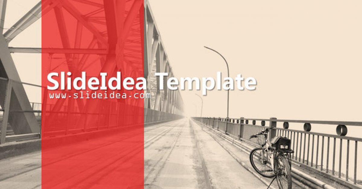 單車旅遊PPT模板下載,6頁精細的腳踏車背景簡報模板樣式