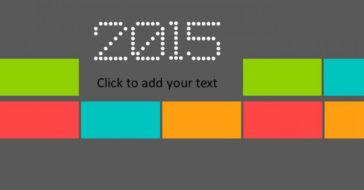 豐富色彩PPT模板下載,23頁完美的色塊分類簡報推薦範例