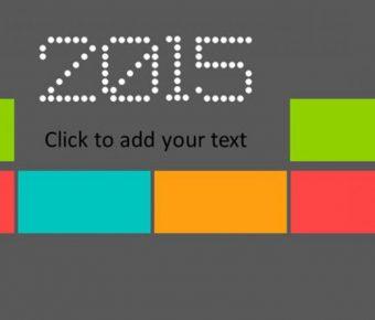 豐富色彩PPT模板下載,23頁精細的色塊分類簡報推薦模板