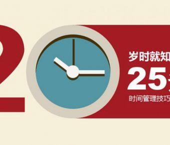 時間管理PPT模板下載,26頁精品的時間規劃簡報模板樣式