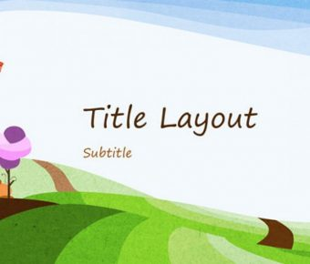 自然風格PPT模板下載,12頁高品質的插畫背景範本推薦樣式