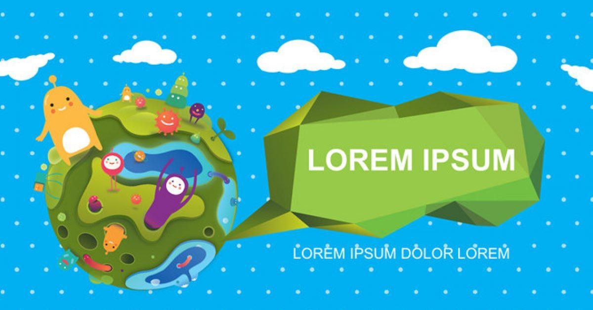 可愛樹木PPT模板下載,10頁高質感的卡通樹林簡報免費下載