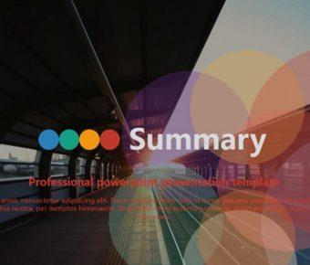 時尚配色PPT模板下載,33頁很棒的商務會議範本推薦模板