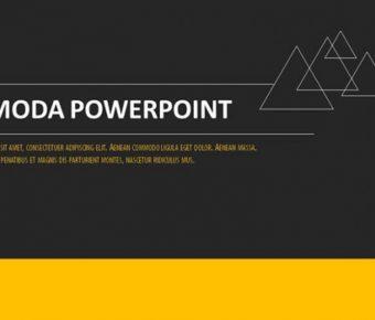 歐美分析PPT模板下載,19頁細緻的黑黃配色簡報推薦下載