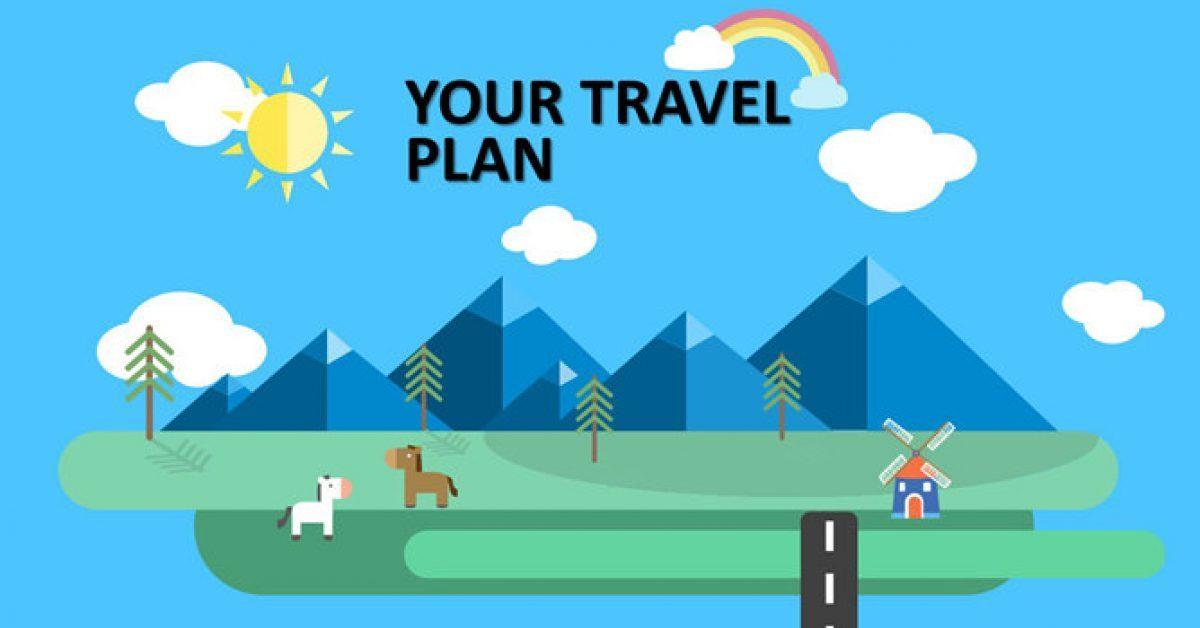 旅遊行程PPT模板下載,4頁優秀的旅遊旅行PPT模板樣式