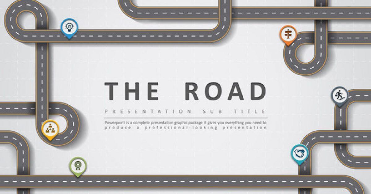 道路設計PPT模板下載,30頁優質的創意主題簡報免費套用