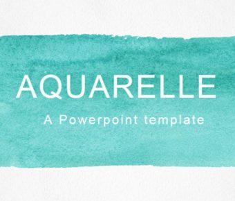 水彩風PPT模板下載,35頁高質感的歐美墨彩簡報免費套用