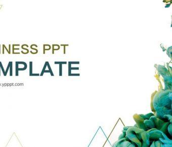創意顏料PPT模板下載,21頁很棒的藝術抽象PPT模板樣式