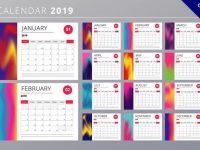 【2019年曆模板】15款完美的2019年曆模板下載,細緻圖樣推薦