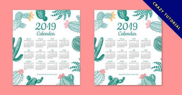 【2019年曆範本】16套有設計感的2019年曆範本下載,精品圖像推薦