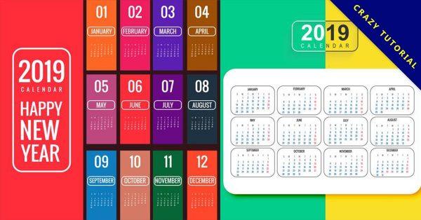【2019年月曆範本】12張高質量的2019年月曆範本下載,優質模板推薦