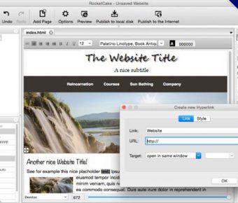 【網頁編輯器】RocketCake 免費的網頁編輯器,專門製作響應式網站下載,英文版,支援MAC系統+WINDOWS系統