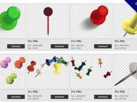 【圖釘PNG】精選102款圖釘PNG點陣圖素材包下載,免費的圖釘去背圖檔
