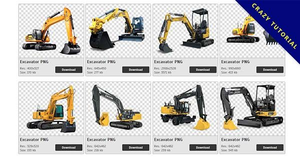 【挖土機PNG】精選69款挖土機PNG點陣圖免費下載,免費的挖土機去背圖檔