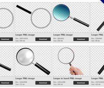【放大鏡PNG】精選21款放大鏡PNG點陣圖素材包下載,免費的放大鏡去背圖案