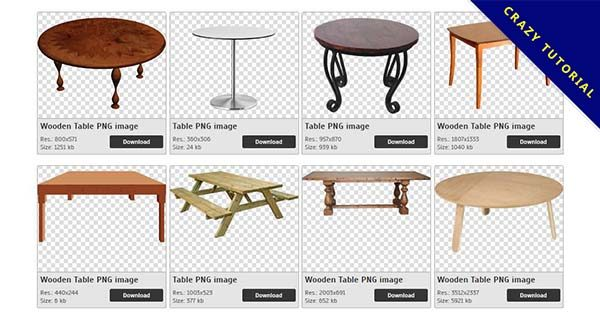 【桌子PNG】精選40款桌子PNG圖案素材包下載,免費的桌子去背點陣圖