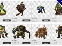 【獸人PNG】精選40款獸人PNG點陣圖素材下載,免費的獸人去背圖檔