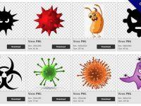 【病毒PNG】精選54款病毒PNG點陣圖下載,免費的病毒去背點陣圖