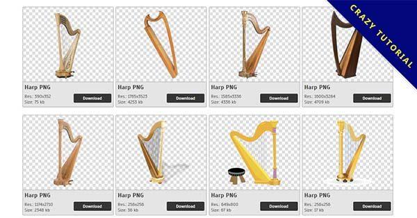【豎琴PNG】精選34款豎琴PNG圖案免費下載,免費的豎琴去背圖片