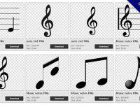 【音符PNG】精選99款音符PNG圖片素材包下載,免費的音符去背圖案