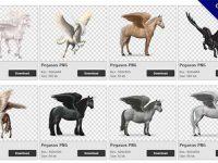 【飛馬PNG】精選51款飛馬PNG圖案下載,免費的飛馬去背點陣圖
