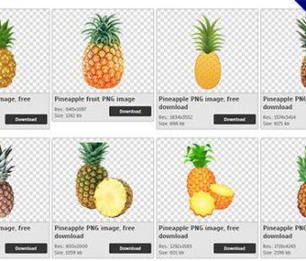 【鳳梨PNG】精選33款鳳梨PNG圖片素材下載,免費的鳳梨去背點陣圖