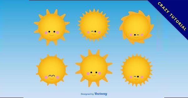 【太陽卡通】6套優質的太陽卡通下載,有設計感圖案推薦