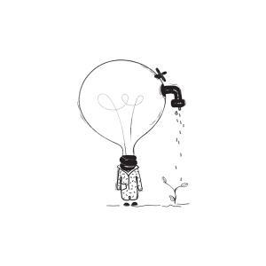 下載有感覺的超現實主義插圖。這些插圖結合了荒謬和深刻的幼稚和天真