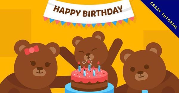 【生日快樂貼圖】28張LINE能用的生日快樂貼圖下載