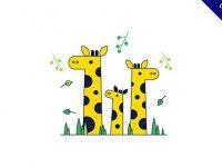 【長頸鹿q版】嚴選15個精緻的長頸鹿q版下載