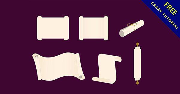 【卷軸素材】精選21張復古的卷軸素材下載
