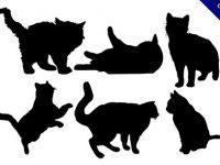 【貓剪影】精選9套細緻的貓剪影圖案下載
