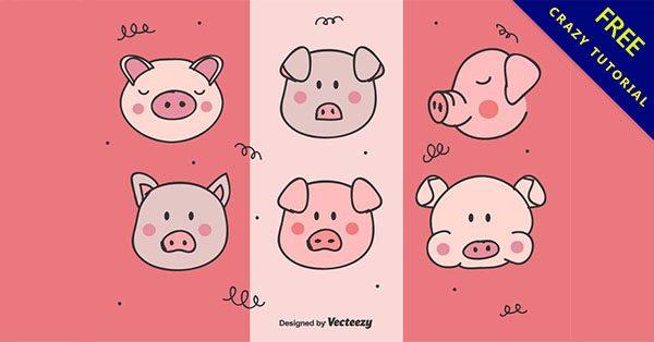 【豬圖案】美編必備的17個可愛的豬圖案下載