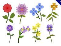 【卡通花素材】美編都在找的20款精緻的卡通花素材下載