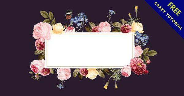 【花邊框素材】邊框推薦:33張完美的花邊框素材下載