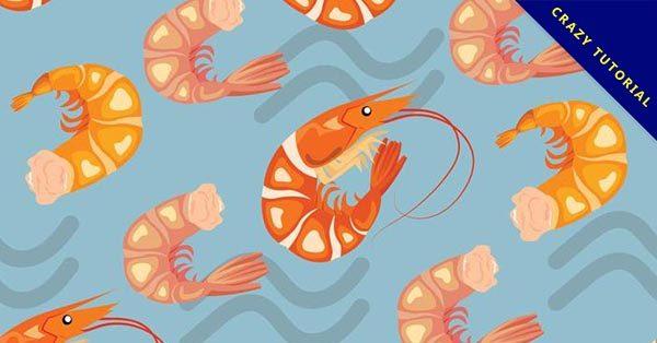 【卡通蝦子】11個有設計感的卡通蝦子圖案下載,優質矢量圖推薦