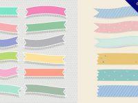 【紙膠帶素材】12款可愛的免費紙膠帶素材下載