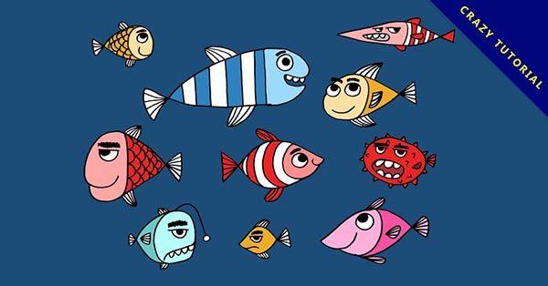 【魚素材】13款可愛的免費魚素材下載