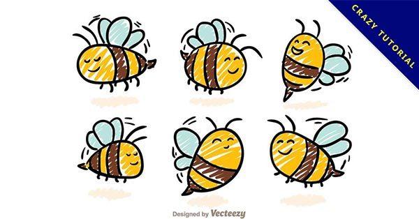【卡通蜜蜂】14款精品的卡通蜜蜂下載,高質量矢量圖推薦