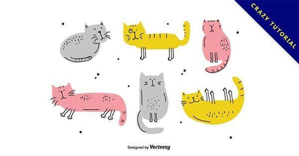 【貓咪圖案】15個可愛貓咪圖案下載,完美卡通圖片推薦