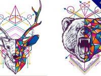 【幾何設計】15套豐富的幾何設計範本作品推薦