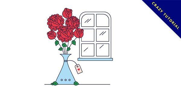 16個精緻的免費玫瑰花圖案下載