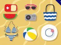 【海灘素材】17個高質感的海灘素材下載,精品插圖推薦