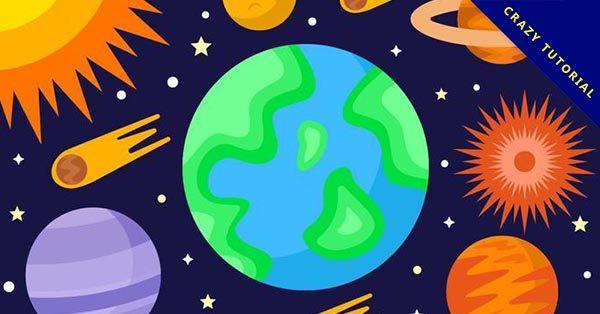 【星球素材】18個優質的星球素材下載,完美插畫推薦